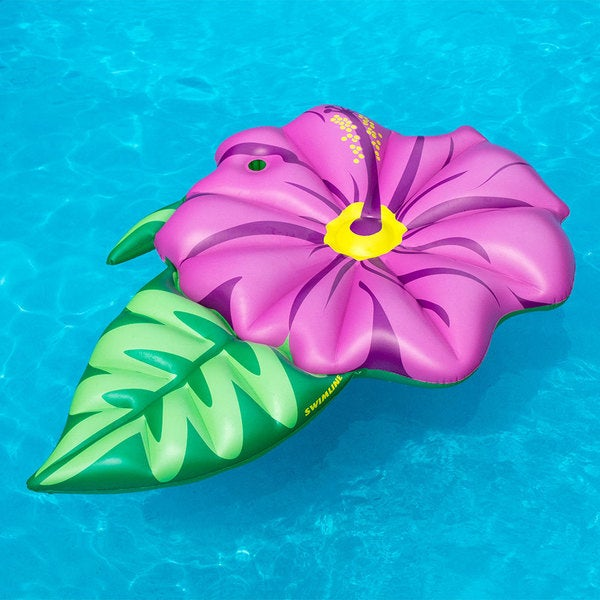 Shop Swimline Hibiscus Flower Swimming Pool Float Free