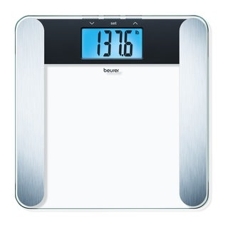 Beurer BF220 Digital Glass Body Analysis Scale, Measures Weight, Fat, Water and Muscle Percentages, Nice Modern Design