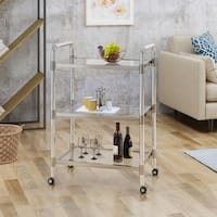 Emilie Acrylic Bar Trolley by Christopher Knight Home