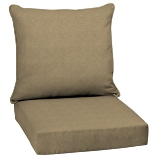 Arden Selections Tan Hamilton Texture Outdoor Deep Seat Set - 46.5 in L x 24 in W x 5.75 in H