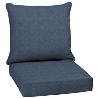 Arden Selections Denim Alair Texture Outdoor Deep Seat Set