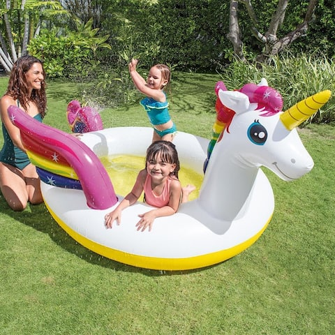 Intex Mystic Unicorn Spray Pool - 113 x 76 x 65 inches