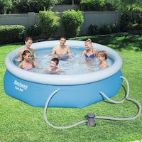 Bestway Fast Set Swimming Pool Set with 330 GPH Filter Pump, 10' x 30""