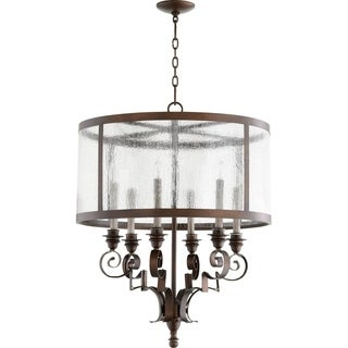 Champlain Vintage Copper and Clear 6-light Chandelier