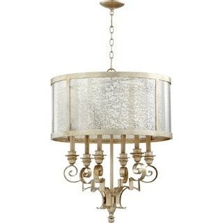 Champlain Aged Silver and Vintage Champagne 6-light Chandelier