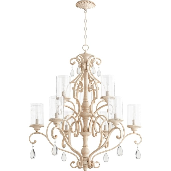 San Miguel Clear Seeded 9-light Chandelier