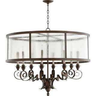 Champlain Vintage Copper and Clear 8-light Chandelier