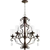 San Miguel Clear Seeded 5-light Chandelier