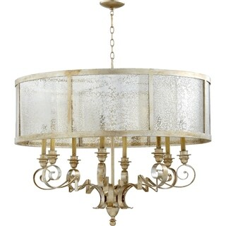 Champlain Aged Silver and Vintage Champagne 8-light Chandelier