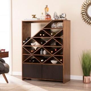 Clay Alder Home Gramercy Dark Tobacco w/ Black Wine/Bar Shelf