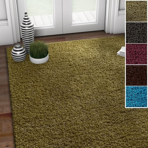 """Well Woven Modern Solid Soft Area Rug - 6'7"""" x 9'3"""""""