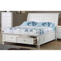 Selena Coastal White Storage Bed