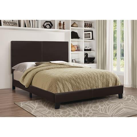 Upholstered Queen Platform Bed, in Black
