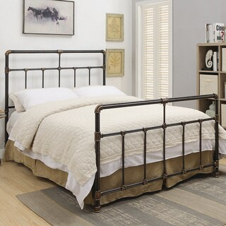 Silas Antique Brass Metal Bed