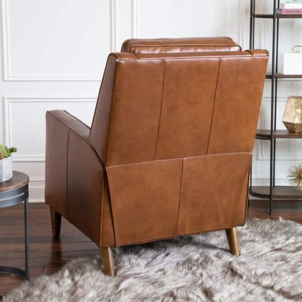 Awesome Shop Abbyson Holloway Mid Century Top Grain Leather Pushback Inzonedesignstudio Interior Chair Design Inzonedesignstudiocom