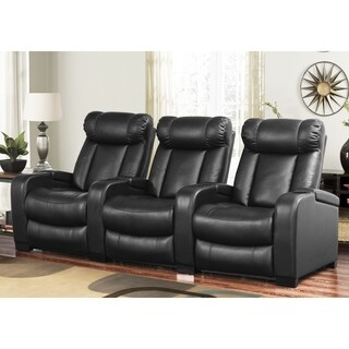 Oliver & James Hahn 3-piece Leather Power Reclining Theater Set