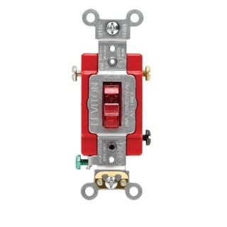 Leviton Industrial 20 amps 120 volts Single Pole Toggle Switch Red