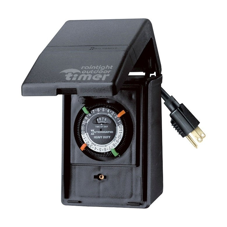 Woods  Outdoor  Heavy Duty Mechanical Timer  15 amps 125 volts Green