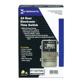 Intermatic Outdoor 24 Hour Electronic Time Switch 30 amps 120-277 volts Grau