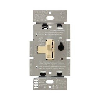 Lutron Toggler 1.25 amps 150 watts Three-Way Dimmer Switch Ivory
