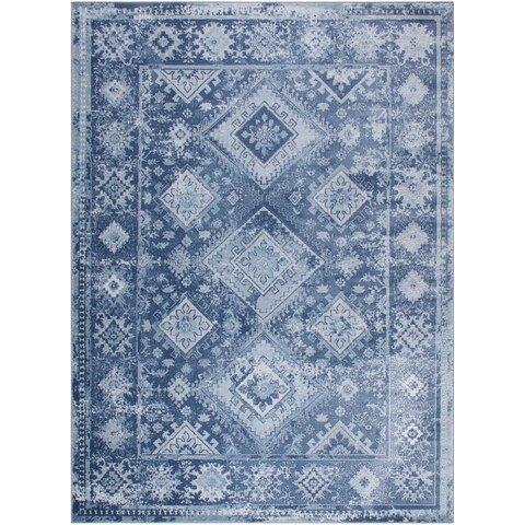"""Home Dynamix Palmyra Collection Grey Distresssed Area Rug - 7'9"""" x 10'2"""""""