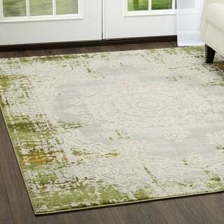 "Home Dynamix Palmyra Collection Oriental Green Area Rug - 7'9"" x 10'2"""