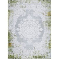 """Palmyra Collection Green Oriental Area Rug by Home Dynamix - 22"""" x 32"""""""