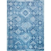 "Palmyra Collection Blue Distresssed Area Rug by Home Dynamix - 22"" x 32"""