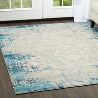 "Palmyra Collection Blue Distresssed Area Rug by Home Dynamix - 5'2"" x 7'2"""