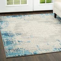 """Palmyra Collection Blue Oriental Area Rug by Home Dynamix - 22"""" x 32"""""""
