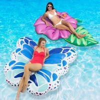 Swimline Beautiful Butterfly and Blossoming Flower Swimming Pool Floats Combo Pack