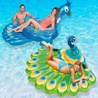 Robelle Peacock Pool Float Combo Value Pack