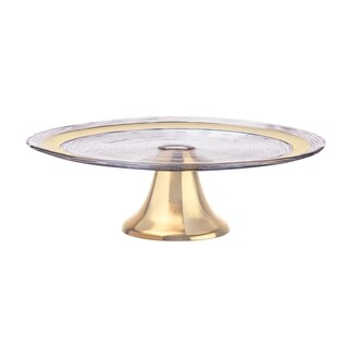 Seville Footed Cake Plate, Champagne Gold, 12.5 inches
