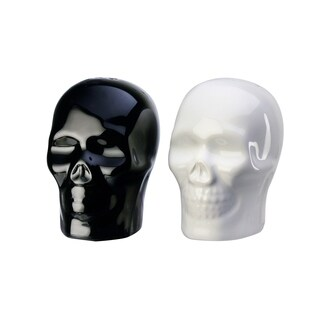 Season S&P 2PC Set Skulls Black White