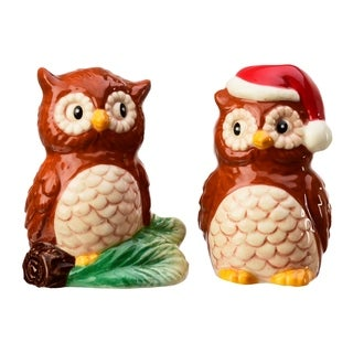 Season S&P 2PC Set Christmas Owls