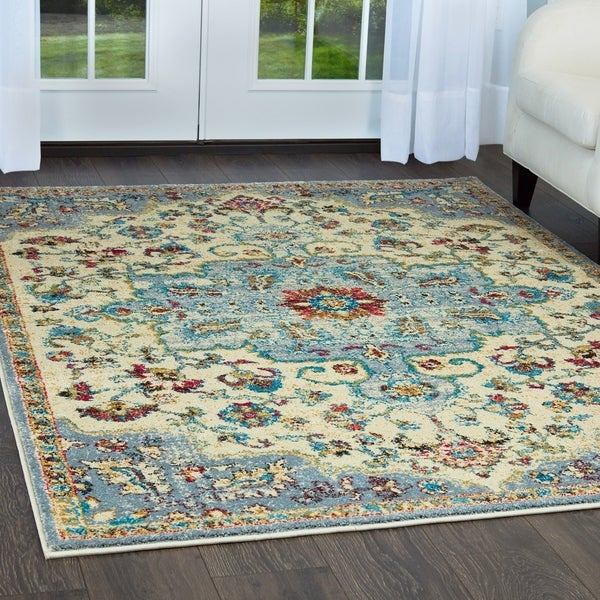 """Serena Collection Classic Ivory-Gray Area Rug by Home Dynamix - 3'6"""" x 5'3"""""""