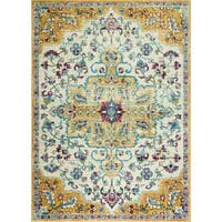 """Serena Collection Classic Ivory-Wheat Area Rug by Home Dynamix - 7'9"""" x 10'2"""""""