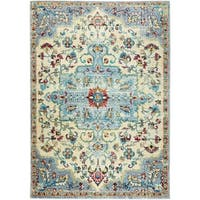 "Serena Collection Classic Ivory-Gray Area Rug by Home Dynamix - 5'3"" x 7'2"""