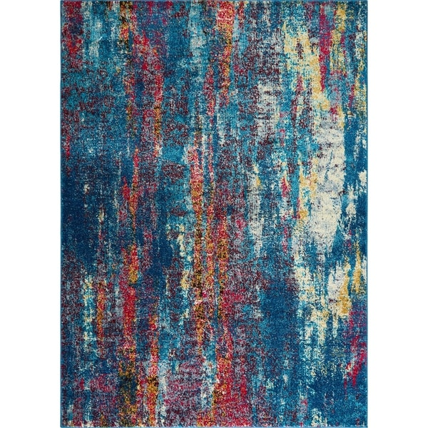 "Serena Collection Abstract Multi-colored Area Rug by Home Dynamix - 7'9""x10'2"""