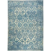 """Serena Collection Distressed Ivory-Blue Area Rug by Home Dynamix - 3'6"""" x 5'3"""""""