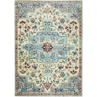 "Serena Collection Classic Ivory-Gray Area Rug by Home Dynamix - 7'9"" x 10'2"""