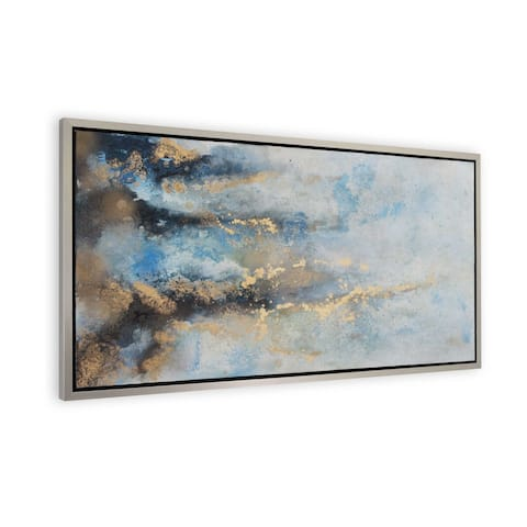 """""""Rising River"""" Hand Painted Abstract Wall Art on Canvas"""