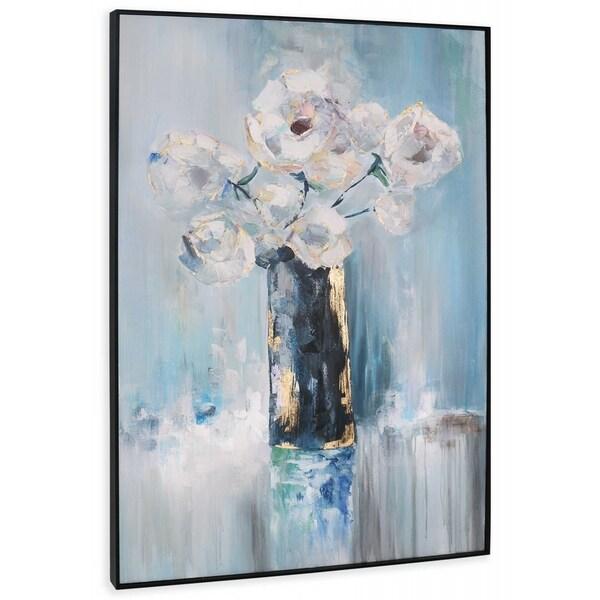 """""""Arrangement"""" Hand Painted Floral Arrangement on Canvas - 42"""" x 2"""" x 62"""""""