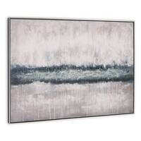 """River Rising"" Hand Painted Abstract Wall Art on Canvas - 49"" x 2"" x 37"""
