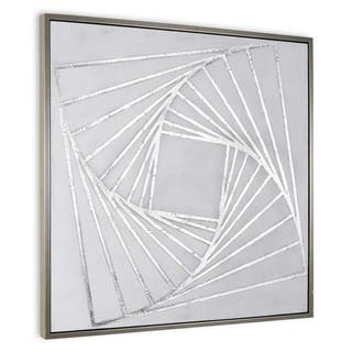 """""""Structure II"""" Hand Painted Geometric Wall Art on Canvas on Canvas"""