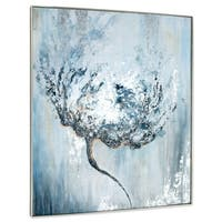 Gild Design House 'Efflorescence' Hand-painted Flower Abstract on Canvas
