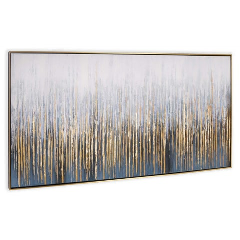 """""""Crowded Room"""" Hand Painted Abstract Wall Art on Canvas - 73"""" x 2"""" x 31"""""""