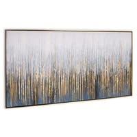 """Crowded Room"" Hand Painted Abstract Wall Art on Canvas - 73"" x 2"" x 31"""