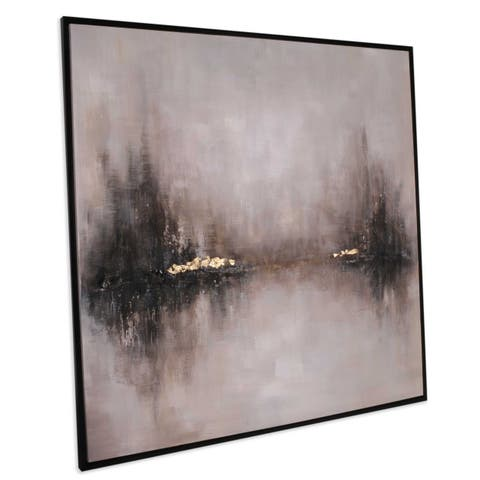 """""""The Clearing"""" Oversized Hand Painted Abstract on Canvas"""