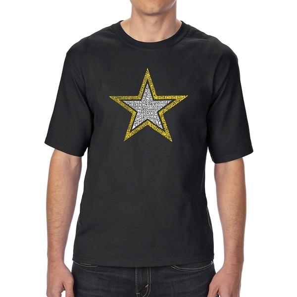 LA Pop Art Mens Tall Word Art T-shirt - LYRICS TO THE ARMY SONG